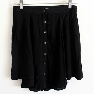 Urban Outfitters Kimchi Blue Black Button Front Sk